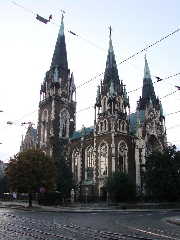 готический костёл святой Эльжбэты