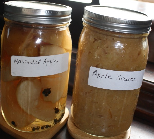 Zagotovki Apple sauce and marinated apples