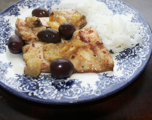Maghreb Algerean Chicken with olives and preserved lemons