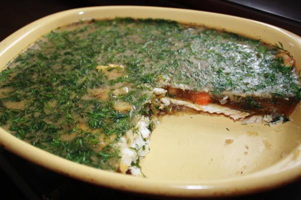 Aspic fish merluza aspic