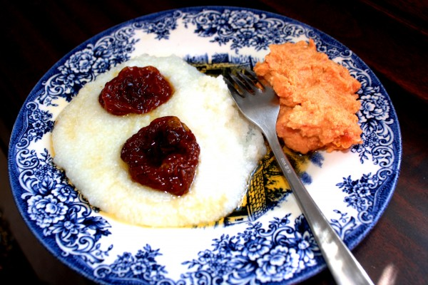 Dried Tomatoes Grits and Humus