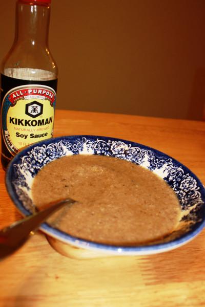 Mushrooms Shiitake-Ginger soup