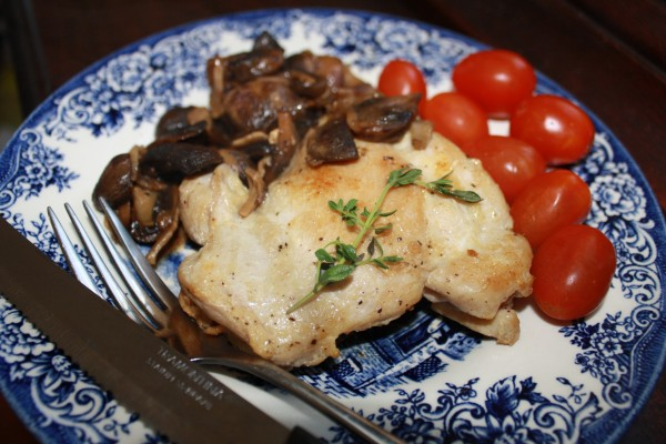 Mushrooms Chicken marsala with button and porcinis