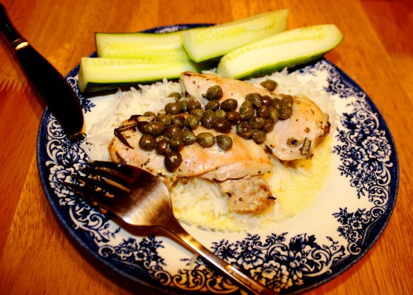 TV serials Downton Abbey Chicken in cream caper sauce
