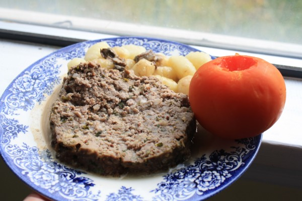 Meatloaf beef yogurt cream