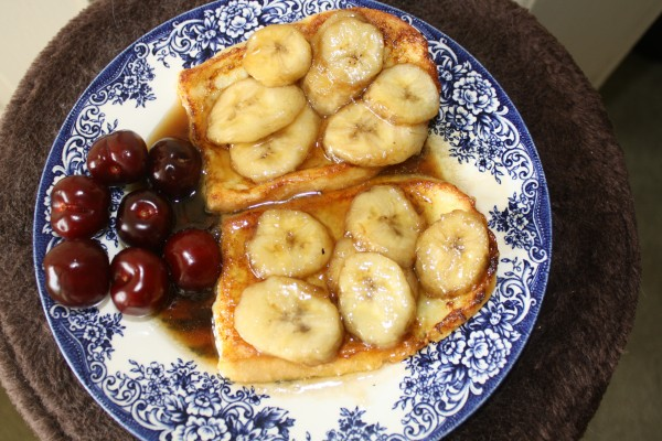 Breakfast Banana Foster French Toast
