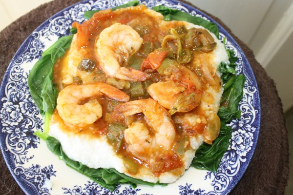 Breakfast  Shrimp with Grits New Orlean Style