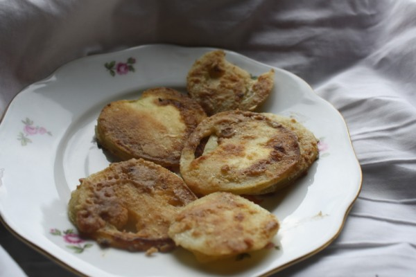Fried green tomatoes heavyfried