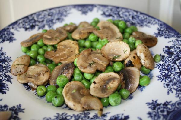 Green Peas w Mushrooms