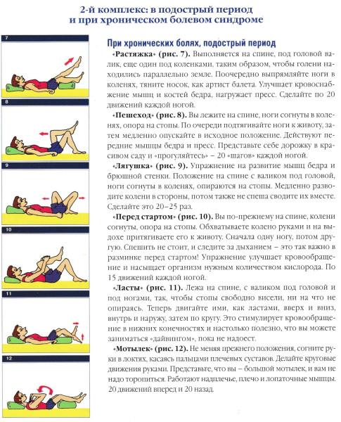 Лечебная физкультура при хронических болях в спине