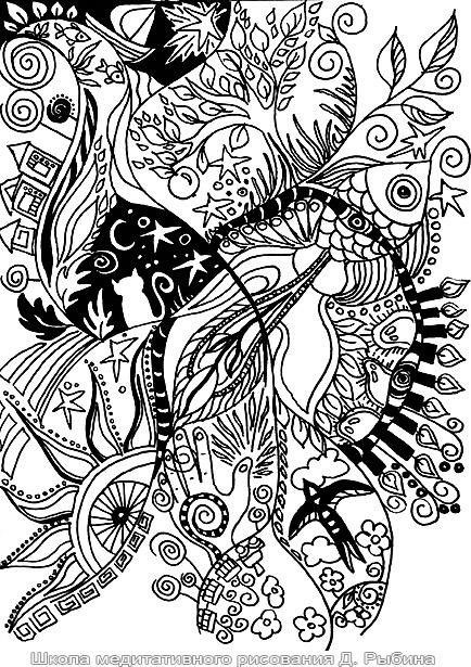Рисунки гелевой ручками