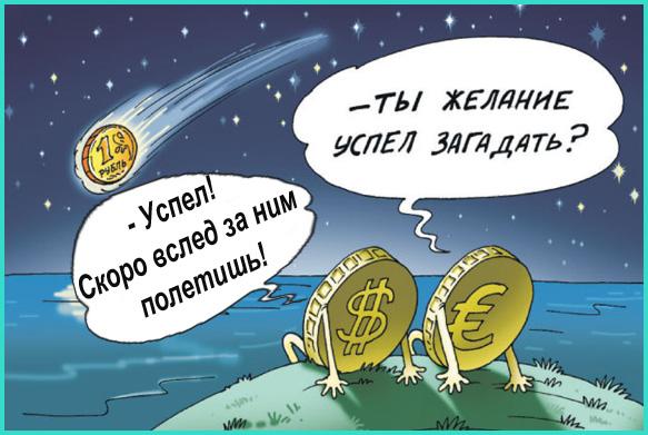 Евро, доллар, падение рубля