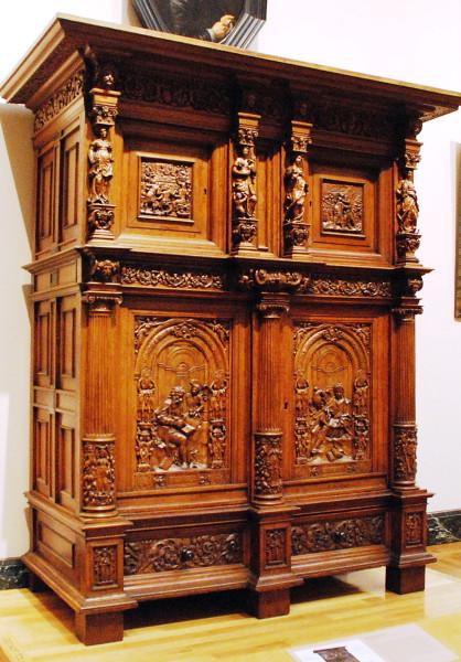 Dutch cupboard at MFA.