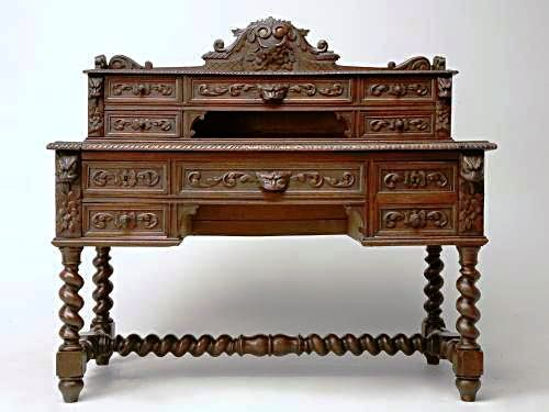 antique-french-carved-desk