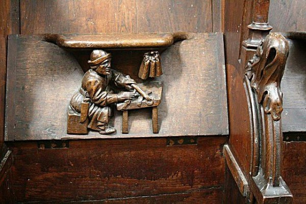 Vendome Abbey - Choir Stall_18