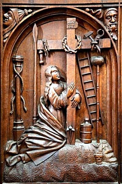 Vendome Abbey - Choir Stall_8