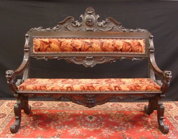 HAND CARVED 5 FOOT BENCH