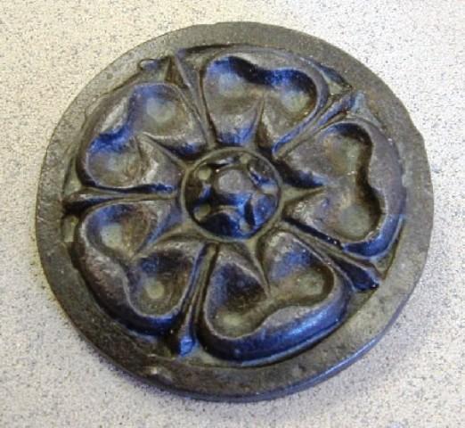 15_Lead Tudor Rose Medallion