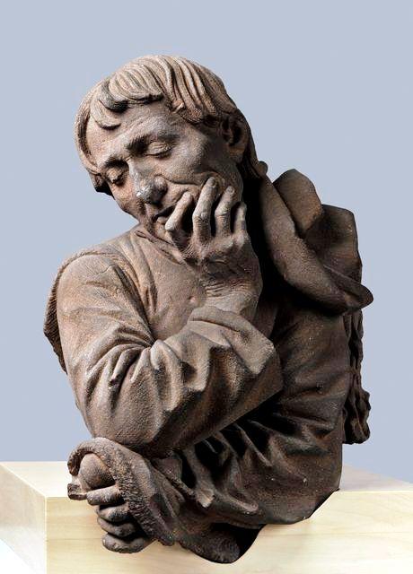 Self-Portrait, Strasbourg, 1463 _Reddish sandstone,