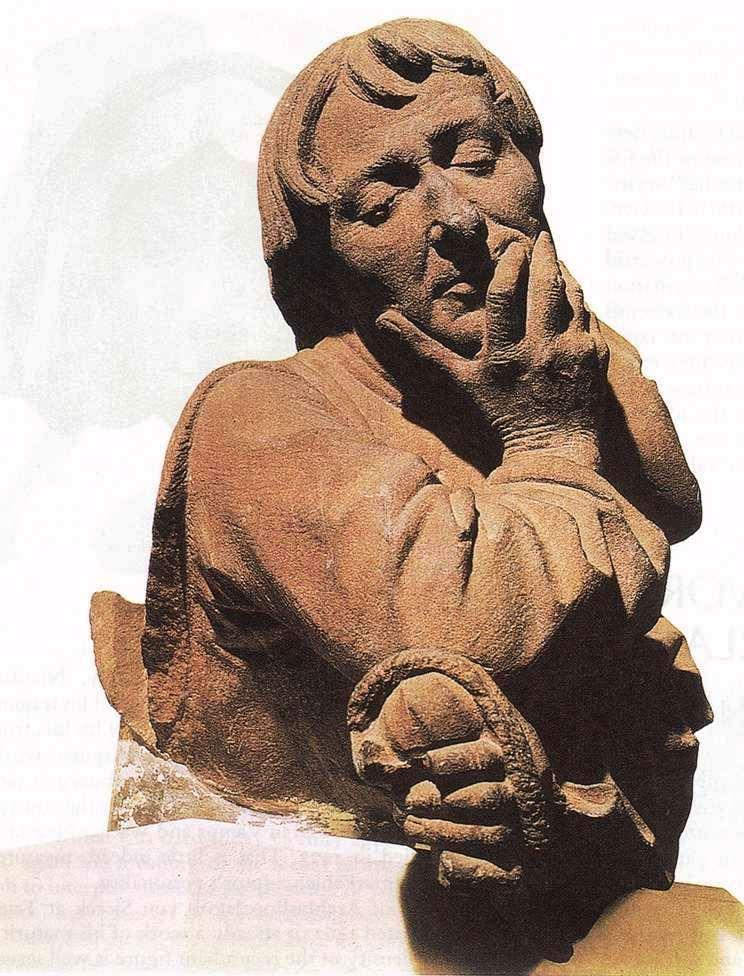 Self-Portrait_Strasbourg, 1463 _Reddish sandstone-2