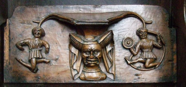 Misericords of St Laurence Church, Ludlow_1