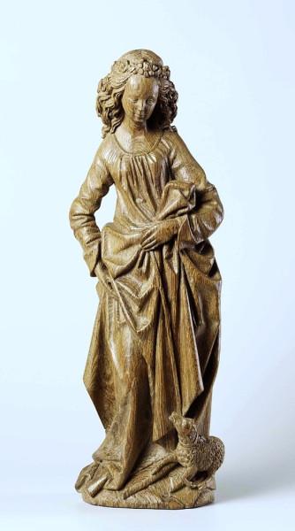 De heilige Agnes, Adriaen van Wesel, ca. 1470 - ca. 1480