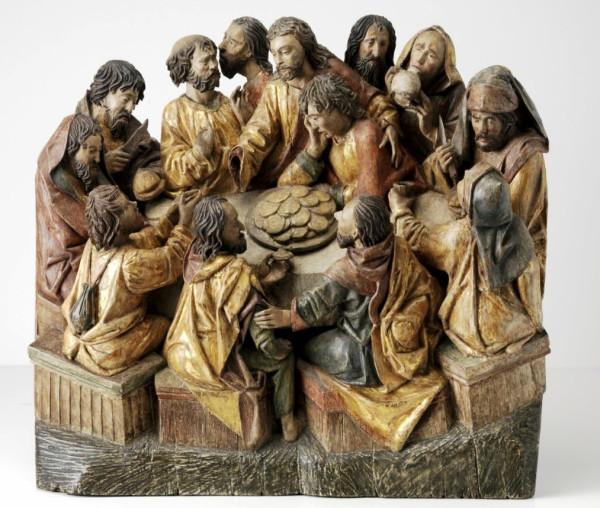 Museum Boijmans Van Beuningen The Last Supper (circa 1480 - 1490)Details Adriaen van Wesel