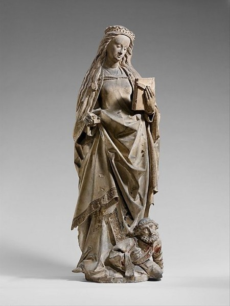 Saint Catherine of Alexandria, by workshop of Jan Crocq. Date_ ca. 1475–1525, made in Lorraine, France.