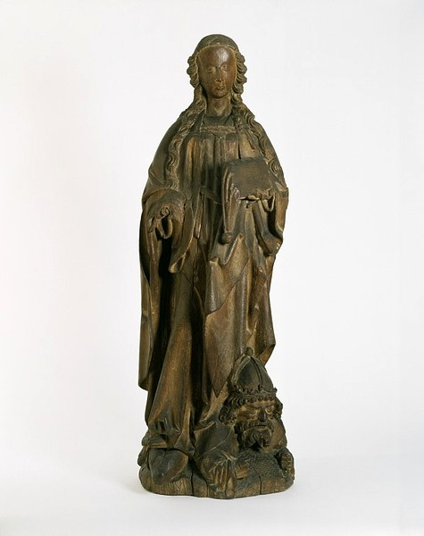 St Catherine of Alexandria Object_ Statue Place of origin_ Limburg (Netherlands), Netherlands_ ca. 1510-1530_ Master of Elsloo