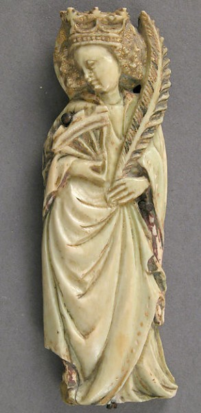 Plaque with Saint Catherine of Alexandria