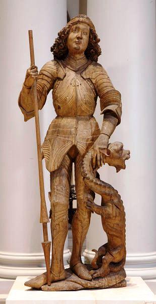 figure of St. George in limewood_1