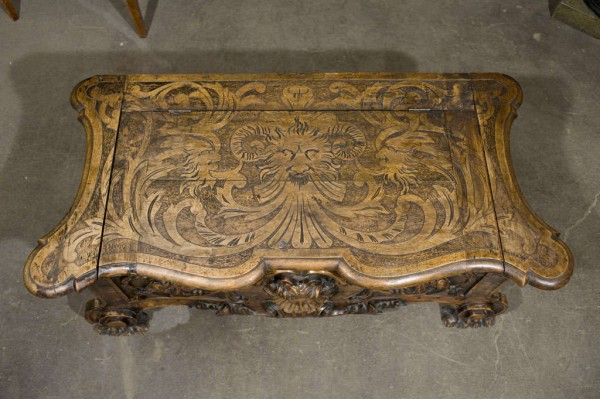19th Century Italian Baroque Carved Cassone_2