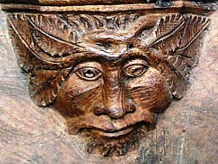 a green man in the misericords