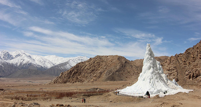 Why an ice tower in the desert?