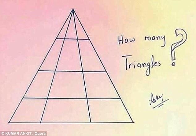 Сколько вы видите треугольников?