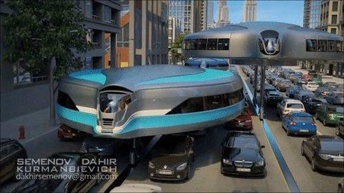 Идея футуристической городской транспортной системы