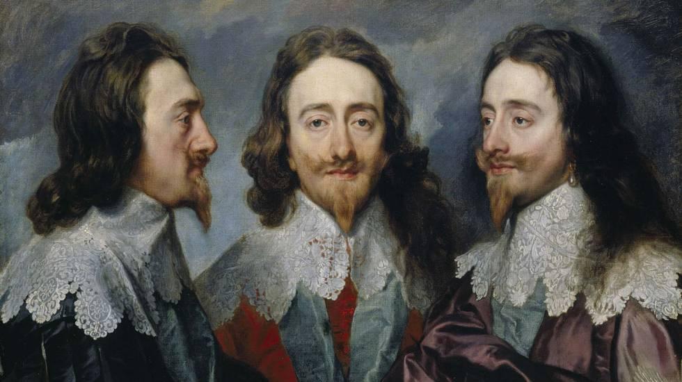 Зачем три раза рисовали Карла I на одной картине?