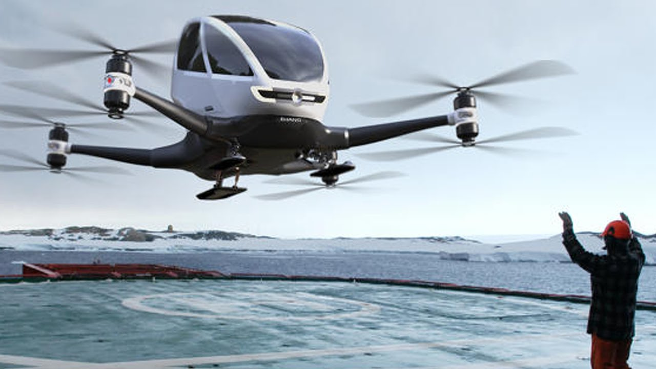 Квадрокоптер способен нести свыше 200 кг