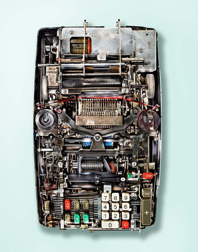 Внутри старых калькуляторов