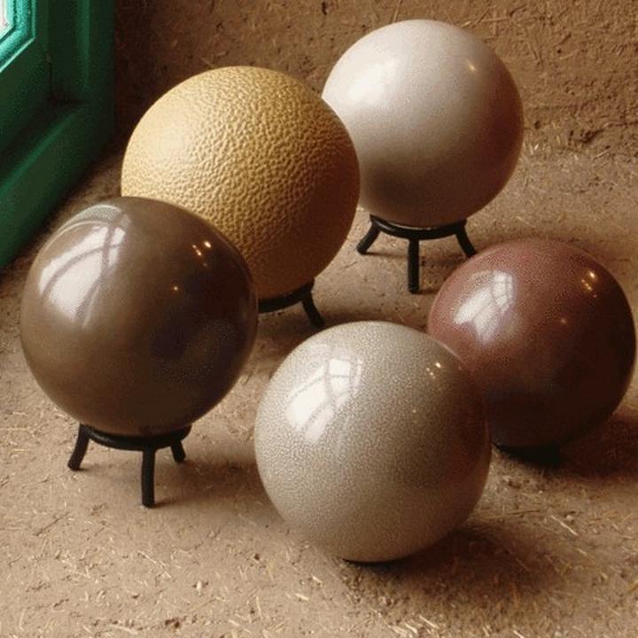Как японцы земляные шары полируют