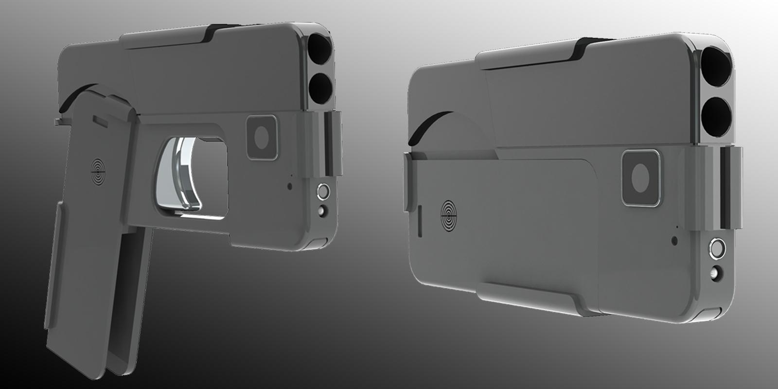 Пистолет в виде смартфона