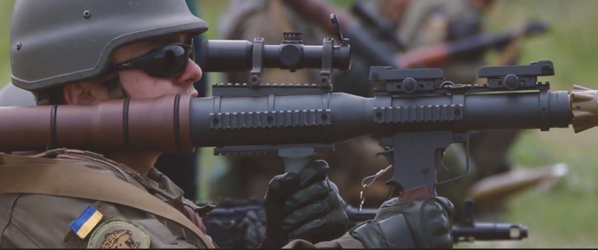 Украинские военные осваивают американские гранатомёты