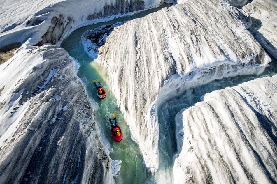 Гидроспидинг по ледяным рекам