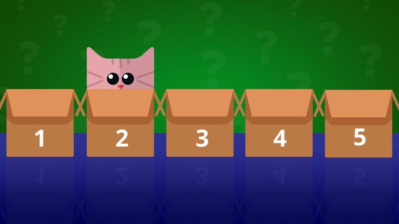 В какой коробке мы найдем кошку?