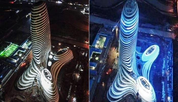 Так был ли салют из провокационного небоскреба?