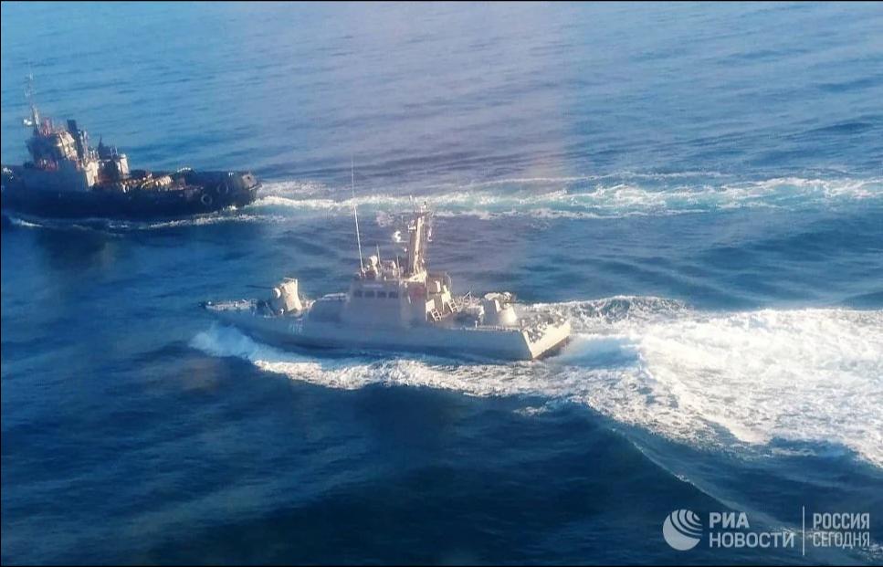 По украинским кораблям открыт огонь
