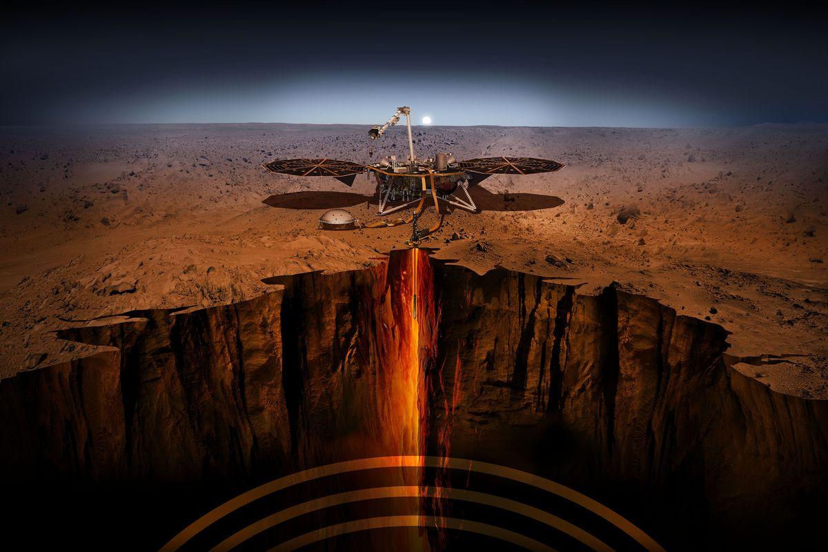 Космический аппарат InSight совершит посадку на Марсе