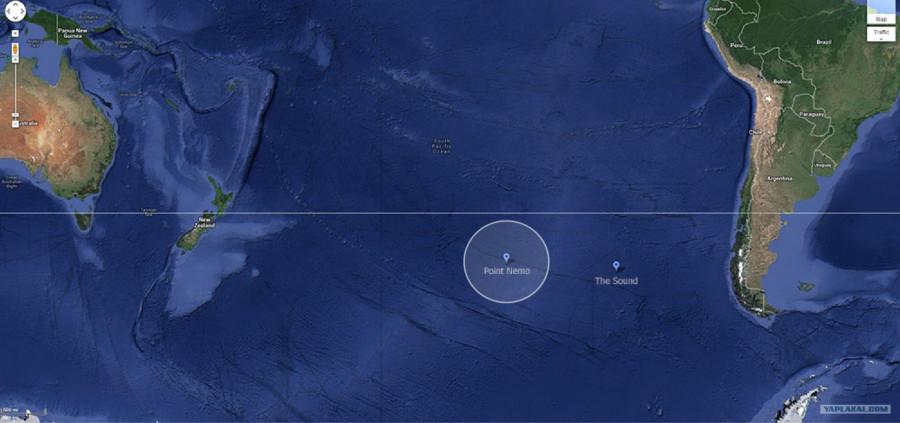 Где находится точка Немо?