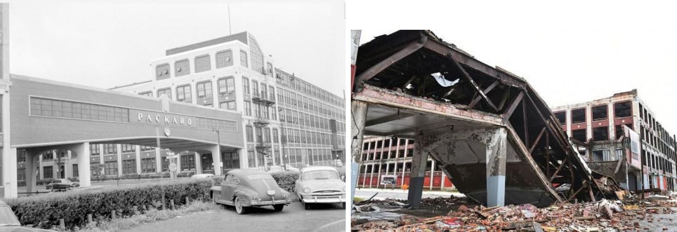 Рухнул исторический мост автомобильного завода Packard в Детройте