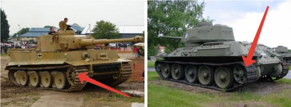 Почему у немецких танков ВОВ ведущее колесо спереди?